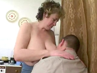 older russian seduces chubby lad