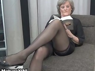 aged housewife in hot darksome stockings part8