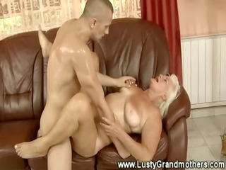 old amateur grandma riding a cock