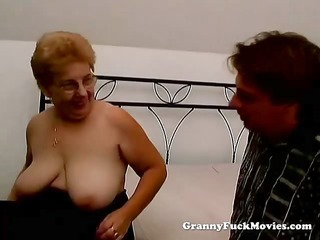 a chubby granny has sex