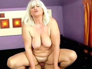 wicked busty corpulent granny receives drilled