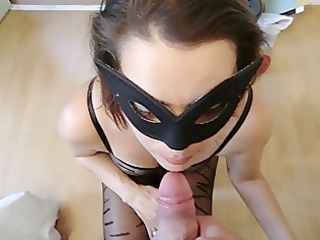 dutch wife bj and swallows cum