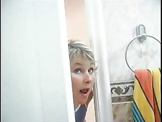 mommy spying on son will he is was in shower than