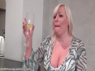 sexually excited fat older lesbo is having obscene