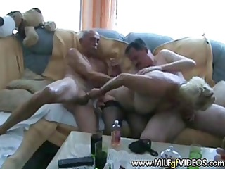 granny milf fuckfest act granny gang group-sex