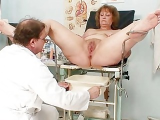 hirsute bulky mommy gets harrassed by gynecologist