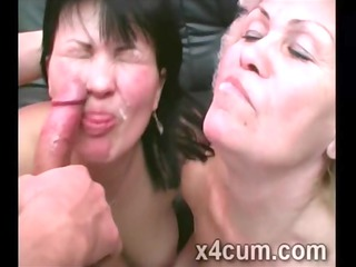 bawdy cougars acquire their face creamed up in