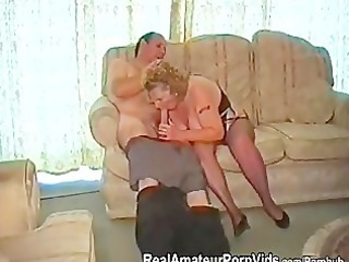 a chubby granny has sex with her spouse