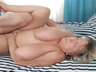 old bulky grandma group-fucked on the daybed