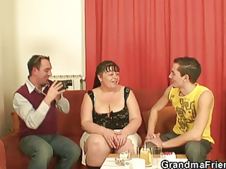 guys interview and fuck the overweight aged wench